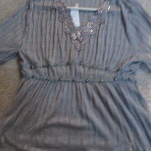 LACEY SMALL WOMEN'S  GREY TOP